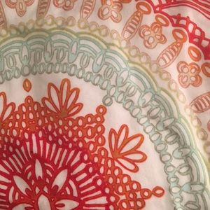 Anthropologie Warm Color Twin Bed Comforter Set
